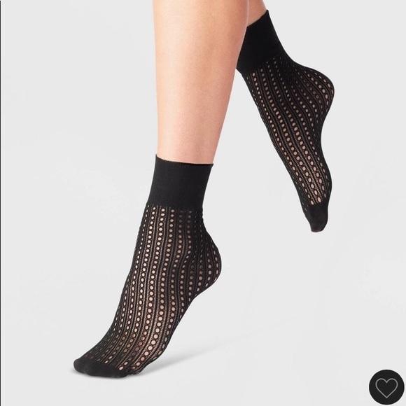 Black Net Fashion Anklets